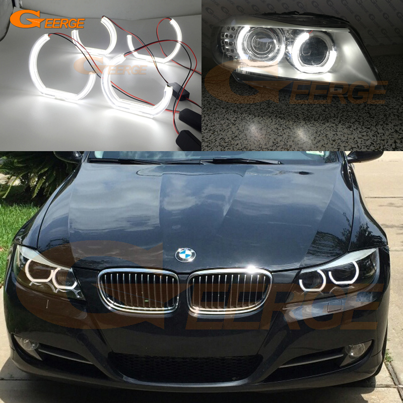 For BMW 3 Series E90 E91 2009 2010 2011 2012 Xenon headlight Excellent DTM M4 Style Ultra bright led Angel Eyes kit микроавтобус газель 2010 года пробег 90 тыс км за сколько можно продать