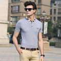 Summer newest style fashion plain color men's business casual short sleeve polo shirt