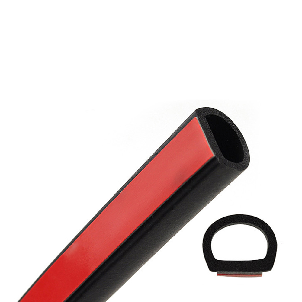 8meter Big D Type Filler Adhesive Car Rubber Seal Sound Insulation Waterproof Anti Dust Car 3m Door Seal Strip Weatherstrip