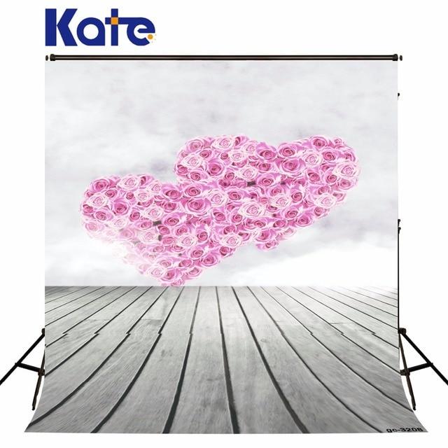 300x300 Cm Kate San Valentino Sfondo Rosa Rose A Forma Di Cuore In