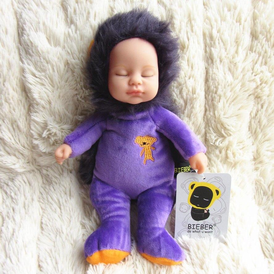 Doll reborn baby vinyl bieber doll purple lion infant BELG010 кукла 44271926101 usa berenguer reborn baby doll