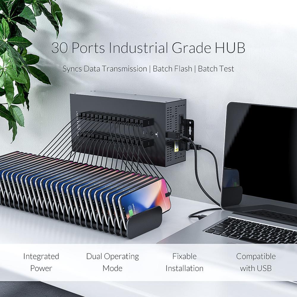 Image 2 - ORICO 30 Ports Industrial USB2.0 Hub for TF SD Card Reader U disk Data Test Batch Copy   Blackusb2.0 hubhub portport hub -