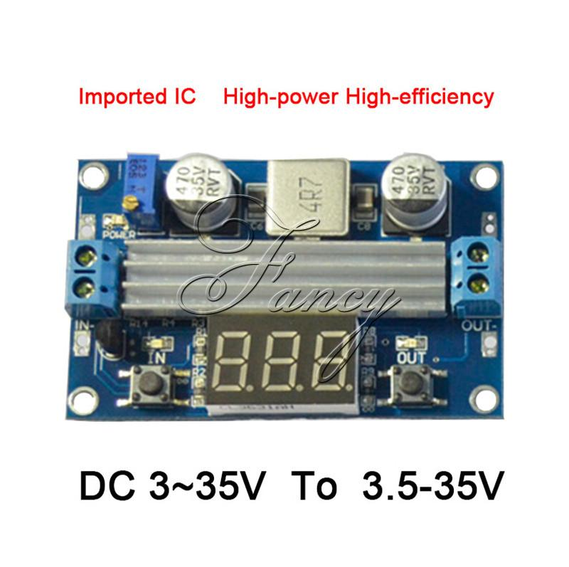 цена на 100W DC DC-DC 3~35V to 3.5~35V LTC1871 Booster step up module Converter Regulated Power Supply + VoltMeter
