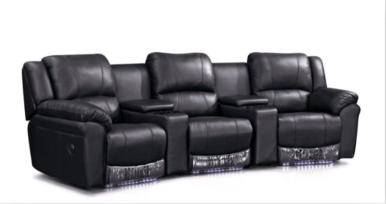 Living Room Sofa Modern Sofa Set Recliner Sofa With Genuine Leather  Recliner Leather Sofa Set