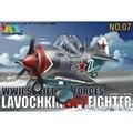 OHS Tigre Modelo 107 Q Versin Lavochkin LA7 Asamblea de la Fuerza Aérea de Combate WWII Soviet Kits de Edificio Modelo