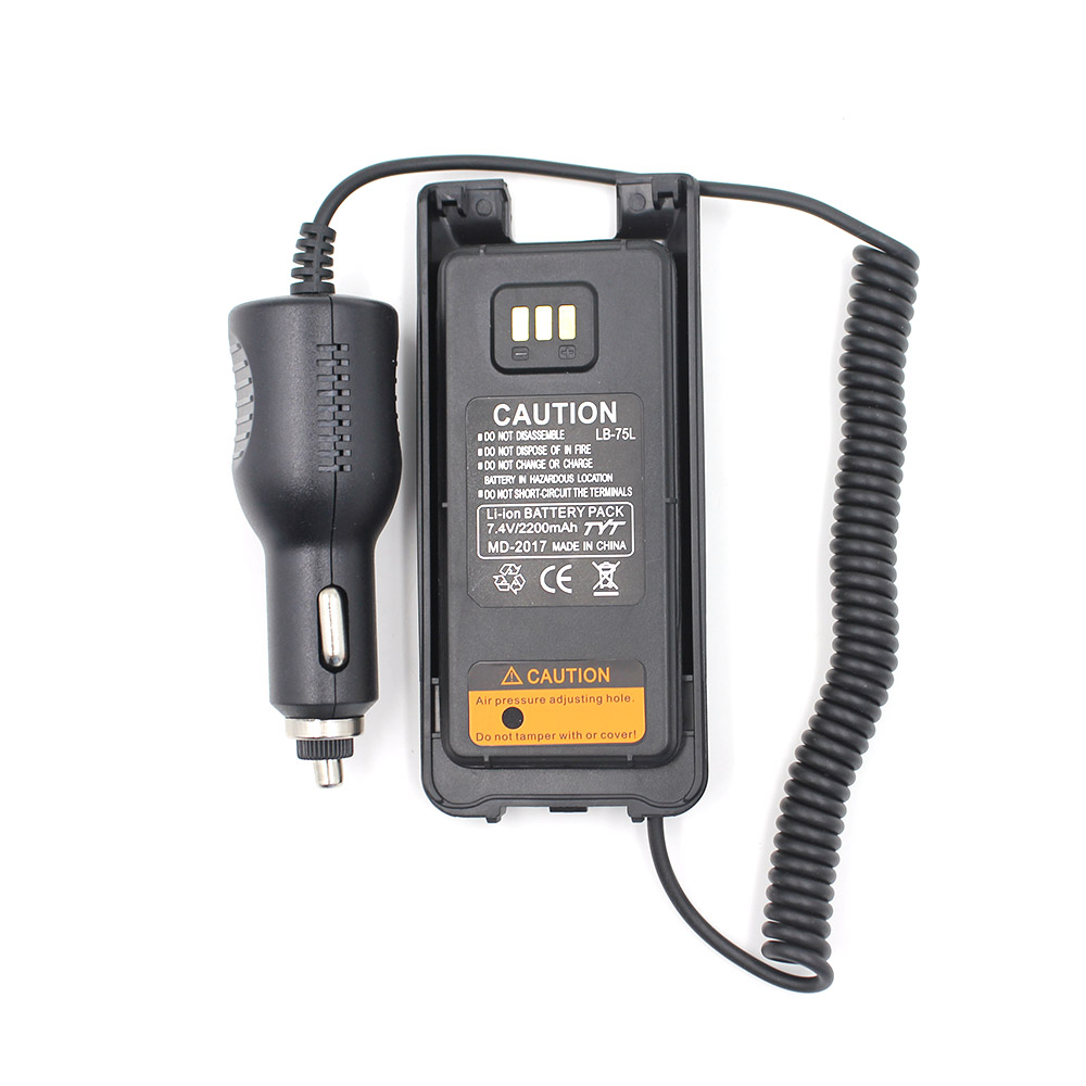 100% Original TYT 12-24V 3800mAh Battery Eliminator Car Charger For TYT MD-2017 MD2017 DMR Two Way Radio Walkie Talkie