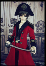 Limited Red  European Uniforms Outfit Suit (6pcs) for BJD Doll IP EID,IP SID,SOOM ID 72 Doll Clothes LF44