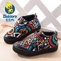2016 BABAYA новый дизайн высокие поскользнуться на школы девушки мода холст дети tenis кроссовки девушки лодыжки мокасины дети shoes