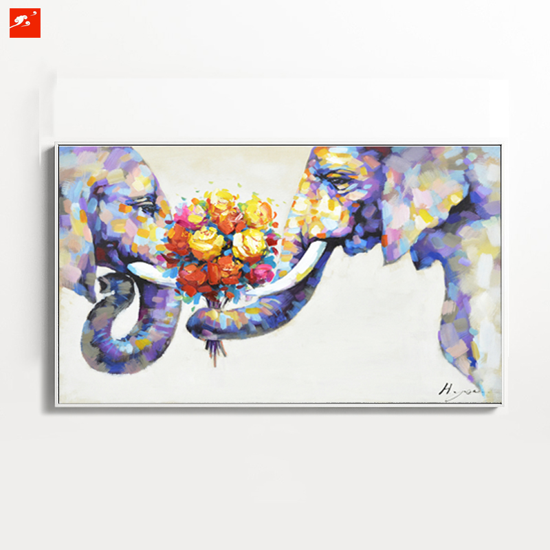 Online buy wholesale elephant oil painting from china for Elephant wall art