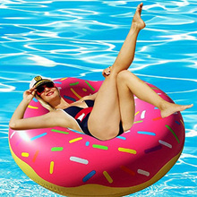 Inflatable Donut Swimming Ring for Pool Float Mattress Thickened PVC Summer Floating Seat Toys