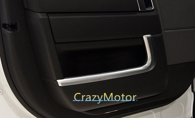 4pcs/set Interior door stripe trim For Land Rover Range Rover Sport 2014 2015 2016 car styling for land rover range rover sport stainless inside door sill scuff plate 2014 2017 4pcs silver black