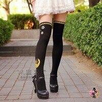 Women Touken Ranbu Online Cosplay Black Tights Cute Anime Pantyhose Stockings
