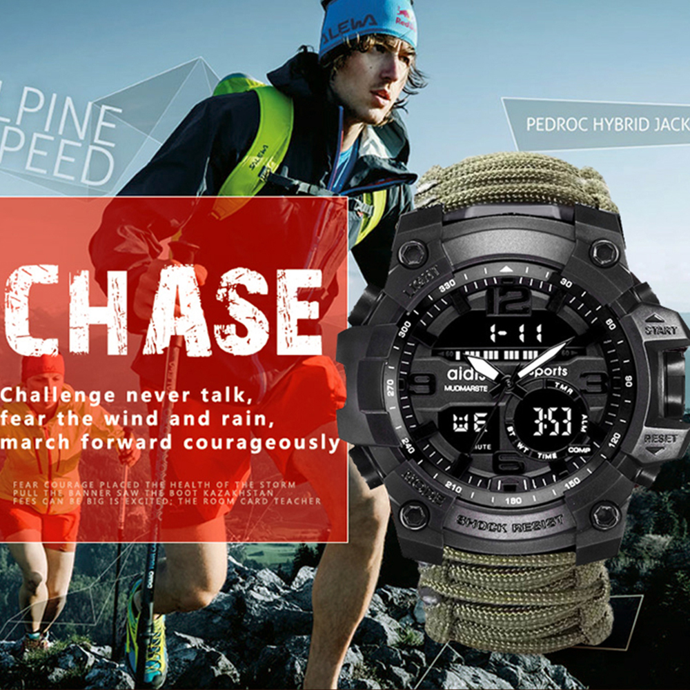 Top Luxury Brand AIDIS Men Sports Watch Fashion Outdoor Compass SHOCK Waterproof Military Digital Watches Relogio Masculino