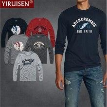 2016 new fashion Famous brand holistic long sleeve t-shirt 100% cotton mens men's t-shirt Autumn / winterstyle shirt Free shippi