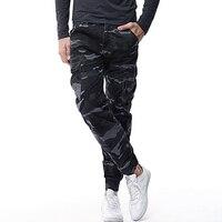 Vendita calda Degli Uomini Pantaloni Casual Moda 2017 Dritto Sciolto Camuffamento Pantaloni Cargo Uomo Multi Tasche Mens Jogging Pantaloni Pantaloni Autunno Maschio