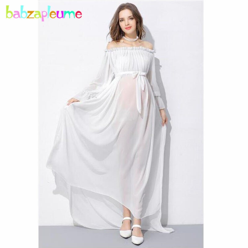 US $23.9 30% OFF|Summer Fashion Maternity White Dress For Photograph  Shooting Photo Elegant Pregnancy Dresses Plus Size Pregnant Clothes  BC1381-in ...