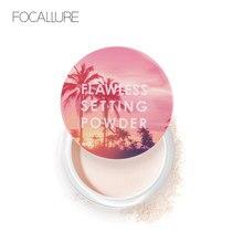 FOCALLURE nowy top jakości sypki proszek przezroczyste światło gładkie ustawienie proszku wodoodporna kontrola oleju aksamitna makijaż twarzy