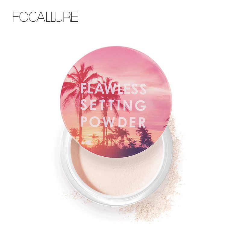FOCALLURE nouveau Top qualité poudre libre translucide lumière lisse réglage poudre étanche huile-contrôle velouté maquillage du visage