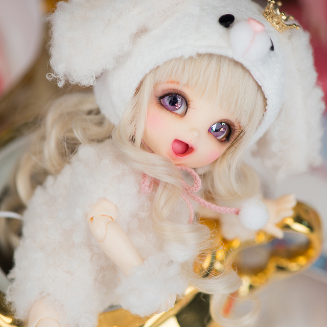2018 New Arrival 1/8 BJD Doll BJD/SD BB Cute PongPong Doll With Free Eyes For Baby Girl Gift  1