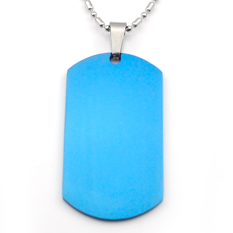 New Stainless Steel Zodiac Dog Tag Pendant Men S Women S: Moorvan 50mm 27mm Stainless Steel Blue Dog Tag Blank