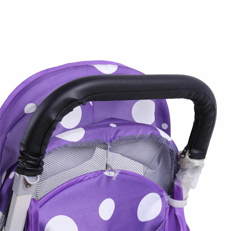 รถเข็นเด็กทารกรถเข็นเด็ก PU ป้องกันสำหรับพนักพิงครอบคลุมจับรถเข็น
