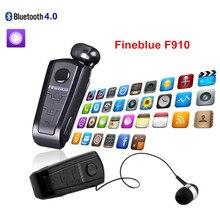 F910 FineBlue Auriculares Retráctiles Auricular Inalámbrico Bluetooth en la oreja los Auriculares Con Clip Collar Soporte Llamadas Recuerdan Vibración