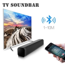 New 10W Sound bar Wireless Bluetooth Speaker TV PC Deskop Soundbar Stereo Super Bass Subwoofer Bluetooth TV Speaker With MIC bluetooth sound bar tv speaker wireless speaker soundbar 3d surround stereo subwoofer for tv home theatre system remote control