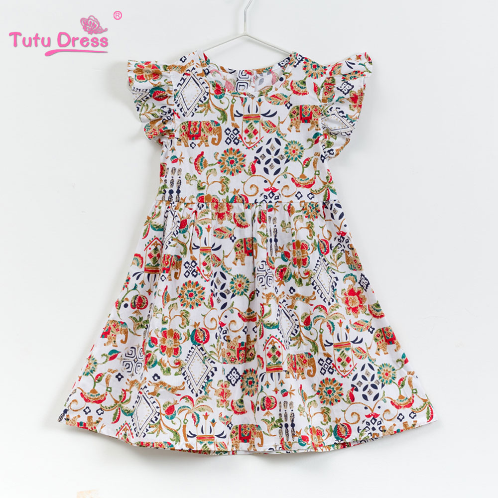 Girls Summer Floral Baby Girl Dress Brand Cotton Short sleeve Dress 2018 New Arrival Baby Girl Clothes For 2-12 Years Outfits new arrival children s dress summer spring fall girl princess dress 100% cotton short sleeves girls dress 4 9y