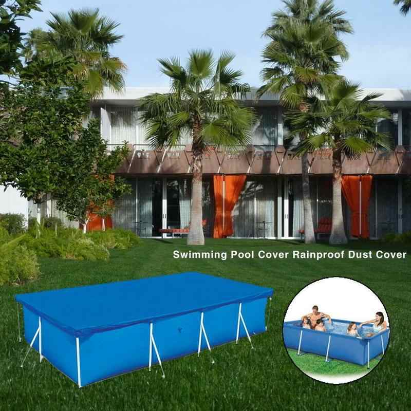 Rectangular Above Ground Swimming Pool Cover UV-resistant Waterproof Dust  Covers Pool Accessories