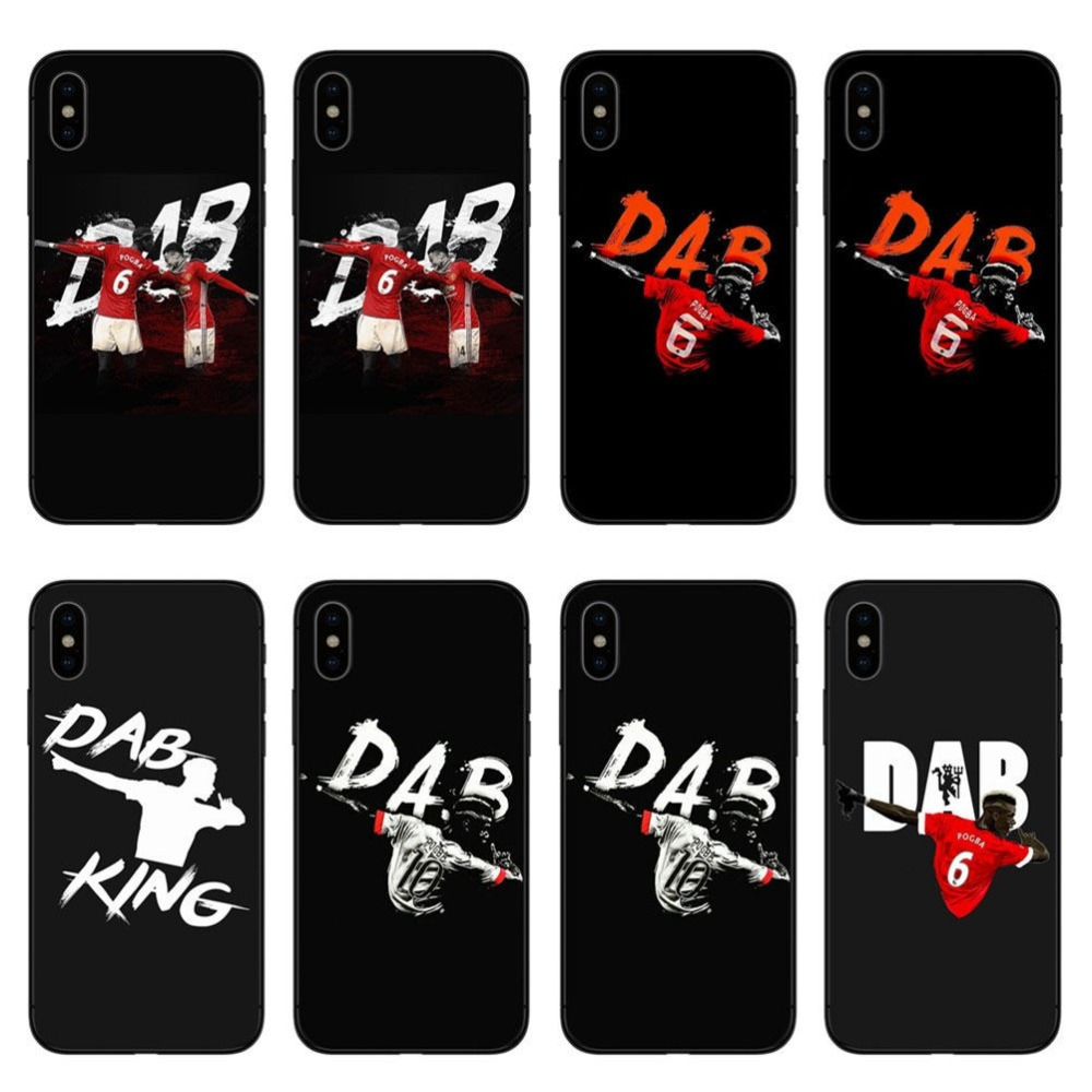 2c366c2c168 FUNNYRUI Football Paul Pogba Dab Hip Hop Soft TPU Phone Cover For Coque iPhone  X 8 8Plus 7 7Plus 6 6S Plus 5S SE Cases