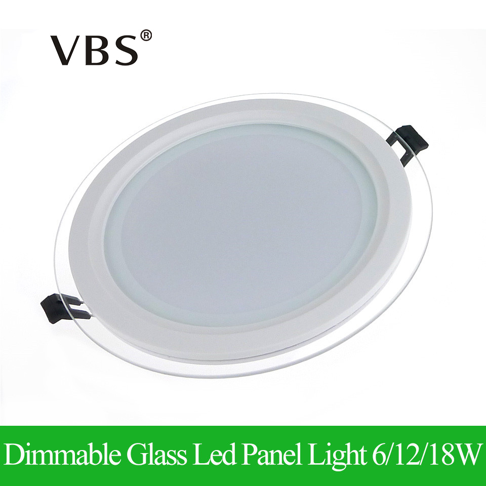 buy led panel light dimmable round glass ceiling recessed panel downlight led. Black Bedroom Furniture Sets. Home Design Ideas