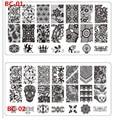 1 шт. DIY ногтей изображения сексуальная кружева букеты штамп штамповка плиты маникюр шаблон 20 стилей для выбора BC01-20