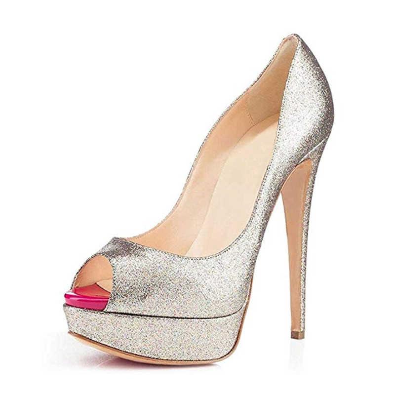 9d8901aa94 ... 2018 Nude Pink Red Bottom Pumps Woman Shoes Ladies Modis Classic  Platform Stilettos Super High Heel ...