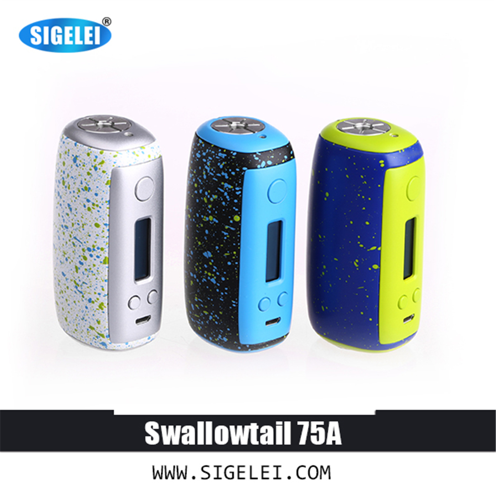 2017 100% Original Sigelei  e electronic cigarette Swallotail 75A  Support software update of USB 2.0 fruit mango flavor e liquid for e cigarette by hangsen