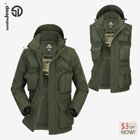 AFS JEEP Lates Trench Coat Men Autumn Spring Double Breasted Men Outerwear Coat Men's Jackets Windbreaker Mens Trench Coat