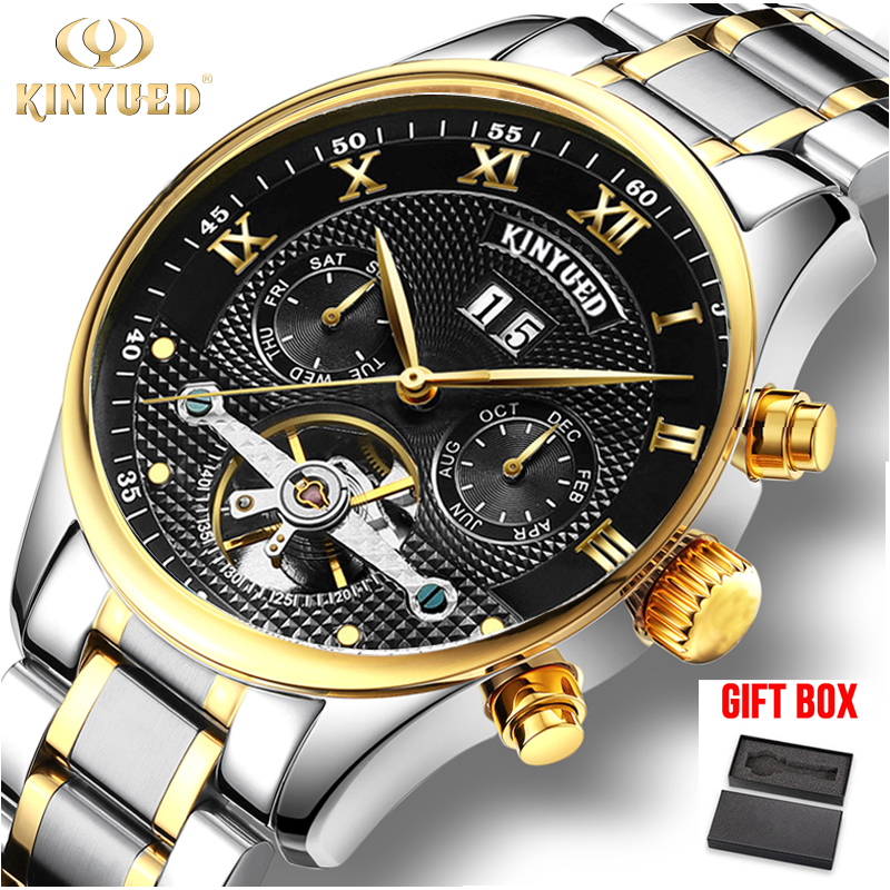 Relogio KINYUED Mens Automatic Tourbillon Mechanical Watches Waterproof Automatico Skeleton Watch Men Relojes Hombre DropshipRelogio KINYUED Mens Automatic Tourbillon Mechanical Watches Waterproof Automatico Skeleton Watch Men Relojes Hombre Dropship