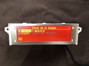 Image 4 - Оригинальный высококачественный дисплей с поддержкой USB, Bluetooth 4, красный монитор с 12 контактным дисплеем для Peugeot 307 407 408 citroen C4 C5