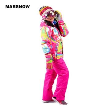 Kids Ski Suit Children Windproof Waterproof Ski Set Warm Girls And Boy Snow Set Winter Snowboarding Skiing Pants And Jacket 2018 children girl ski suit winter windproof warm girls clothing set jacket overalls pant kids clothes sport snow suits set