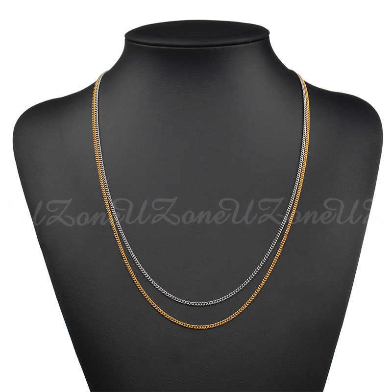 UZone 24 cal Twist Rope Chain naszyjnik wysokiej jakości złoty kolor kubański Link naszyjnik łańcuch może Drop Shipping