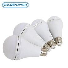 Ntonpower carregamento automático lâmpada de emergência led, lâmpada mágica que pode ser acesa na água ou na mão quando a energia é cortada