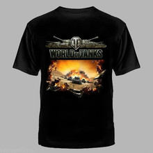 World of Tanks T-shirt 100% cotton Brand New S L M XL XXL WOT 2018 Newest Fashion