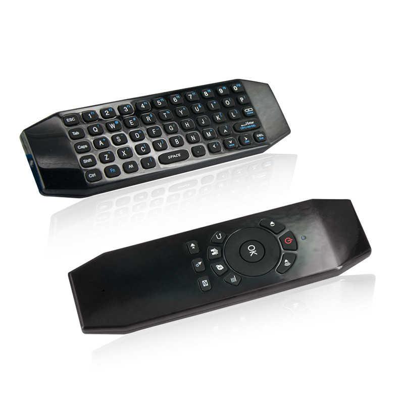 T5 Air Mouse 2.4G Nirkabel Penerbangan Mouse dengan Mikrofon Suara Universal Remote Keyboard Inframerah Belajar untuk Android TV Box P