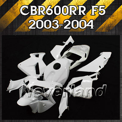 New Unpainted Motorcycle Fairing Kit For Honda CBR600RR F5 2003-2004 03-04 600RR Injection ABS Free shipping D10 vogue fluffy little wavy capless full bang palm red synthetic adiors wig for women