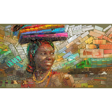 Full Square Drill 5D DIY mosaic Africa girl book diamond painting Cross Stitch 3D Embroidery Kits home decor H48