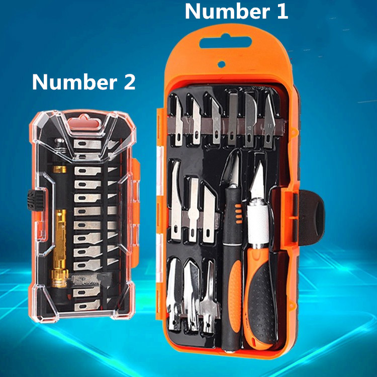Hot Sale Universal Rubber Handle Graver Wood Carving Steel Hobby Knife Kit Detail Chisel Craft Repair Tools 14pcs/set
