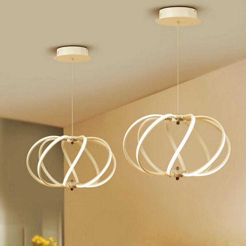 U1 Современный простой подвесной светодиодный бар лампы творческая личность ресторан люстра моды спальня лампа приятное освещение FG191