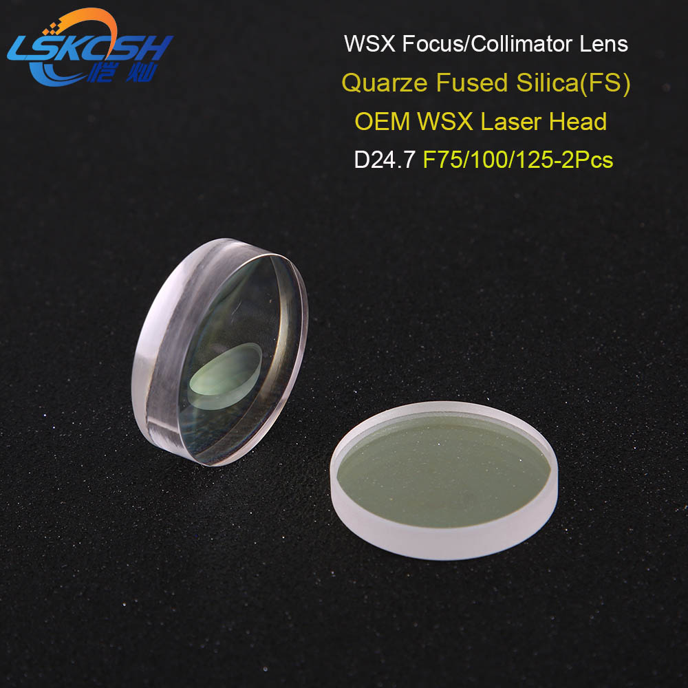 LSKCSH high quality fiber laser focusing lens collimator lens D24 7 F75 100 125mm for WSX