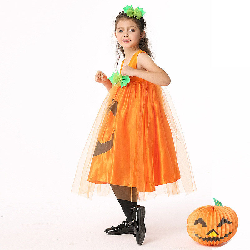 Fashion Girls Dress Pumpkin Tulle Party Dress Halloween Costume Festival Princess Performance Kids Flower Vestido Clothes Kids-in Dresses from Mother u0026 Kids ...  sc 1 st  AliExpress.com & Fashion Girls Dress Pumpkin Tulle Party Dress Halloween Costume ...