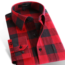 Autumn 2016 Men s Casual Plaid Shirts Long Sleeve Slim Fit Comfort Soft Brushed Flannel Cotton