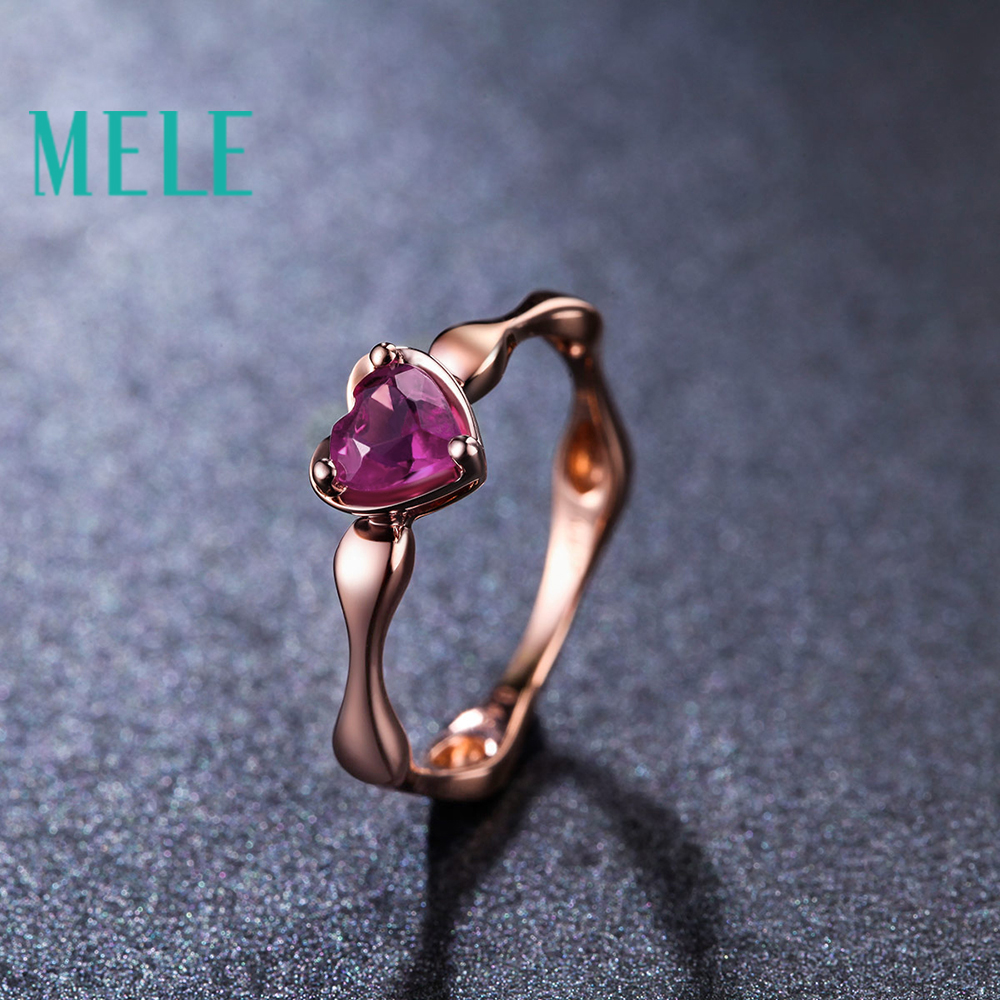 Natural red tourmaline 10K gold wedding ring for women,heart cut fashion and beaut wiht high quality недорго, оригинальная цена
